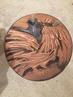 Тарелка настенная петух