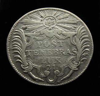 21 соль 1710 г Женева Швейцария серебро 4.77 г