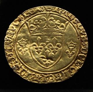 Экю д'ор 1422-1461 гг Карл VII золото 3.23 г