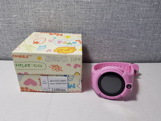 Детские телефон часы с GPS трекером Q360 Pink