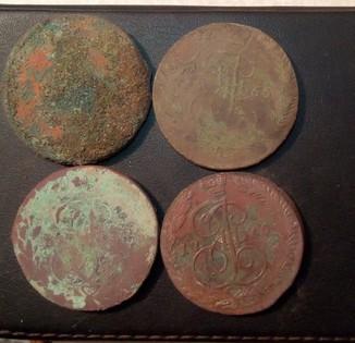Монеты РИ - 64шт. на чистку и мойку