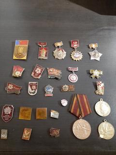 Значки и медали посвященные годовщинам победы ВОВ 26 шт