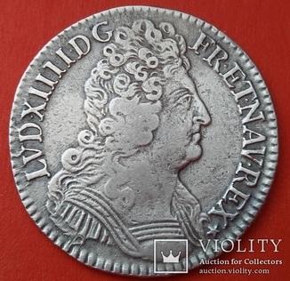 1/2 ЭКЮ,  1710 A, Франция, Людовик XIV (1643-1715)