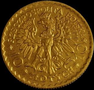 10 злотих 1925 року, Польща, UNC