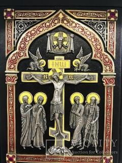 Библия.Серебро 925,эмаль,рубины
