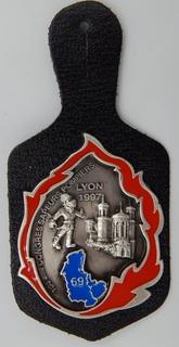 Франция. Пожарные. Конгресс пожарных в Лионе 1997 года.