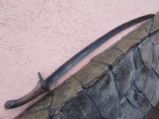 Сабля 10 -11 век (инкрустация Колесо Фортуны)
