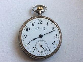 Павел Буре серебряные карманные часы