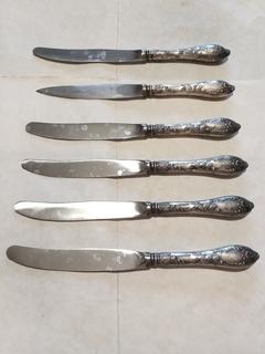 6  Советских ножей завода ЗіШ, знак качества СССР, смотрите описание