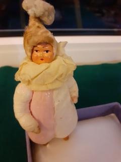 """Новогодняя игрушка """" Мальчик в костюме клоуна"""" 40 вых годов"""