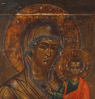 Образ Смоленской Богородицы с предстоящими.
