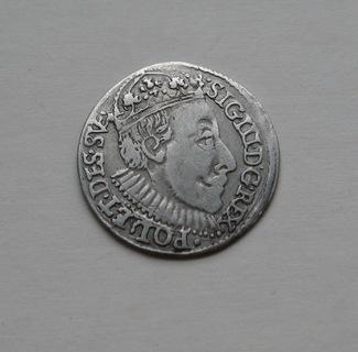 Трояк 1588 года. Сиг. ІІІ Ваза. Олькуш ( R7-R8 ).