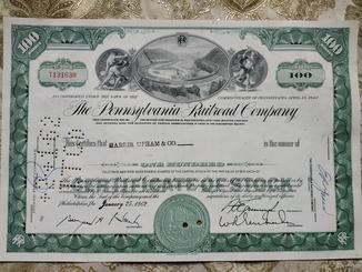 США акции, THE PENSYLVANIA RAILROAD COMPANY 1962р