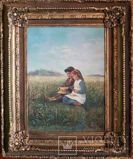 Старинная картина в раме