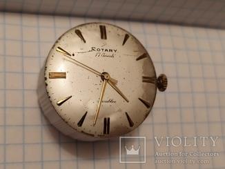 Механизм от часов Rotary на 17-24 камнях Швейцария (рабочее).