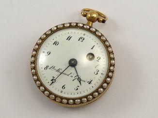 Золотые часы Pre Rigaud a Geneve с натуральным Жемчугом.