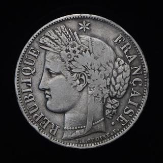5 Франков 1850 А Церера, Франция
