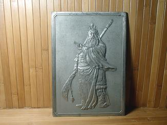 Плакетка Самурай Япония 26 см барельеф