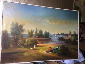 Черкаси Берег Дніпра 75р.(вид на річковий вокзал)авторська