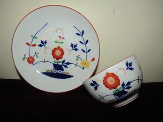Чайная пара чашка тарелочка - розетка фарфор клеймо Мейсен Meissen Германия 1852-1870