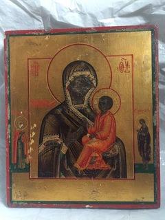 Икона Тихвинской Божией Матери с предстоящими Анной и Марией