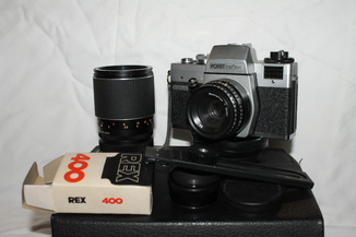 Фотоаппарат Porst reflex CX 4 + 2 объектива,кейс и набор аксессуаров.
