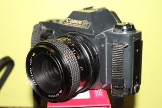 Фотоаппарат CANON T 50 + Presenta auto MC 2.8/35мм