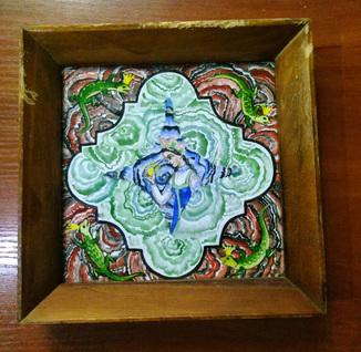 """Картина на керамической плитке ссср авторская работа """"медной горы хозяйка"""" рельефная"""