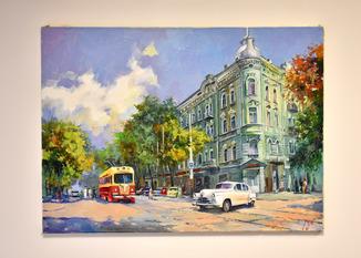 Картина, масло, холст Софиевская Одесса 55х75