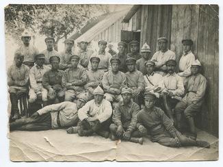 РККА 1923 г. Комсостав 3-го бат. 130-го тер. полка на сборах в с. Шуляки