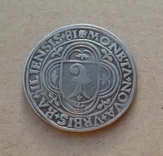 Гульденталер 1581 года. Швейцария. Базель.