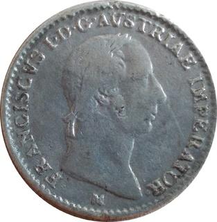 Ломбардия-Венеция ¼ лиры, 1822 М,(монетный двор Милансеребро,С17