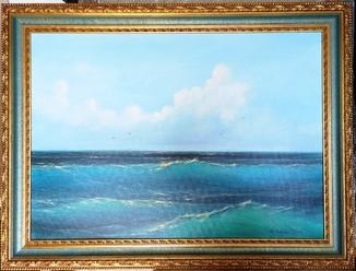2000  Картина Морской пейзаж. Коваль А. 65х92 х.м.
