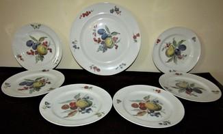 Сервиз десертный Фрукты клеймо Kaiser porcelain Германия