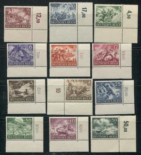 1943  Рейх  Вермахт полная серия MNH угловые поля