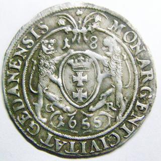 Орт 1655 Ян II Казимир