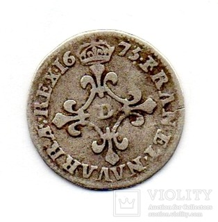 4 соль 1675 Луи XIV