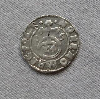 1/24 талера 1615 года. Сиг. ІІІ Ваза ( лот 3 ).