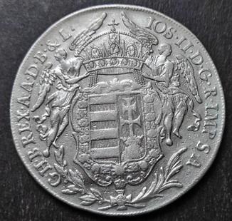 1 Талер 1782 год, Венгрия , Кремниц- Иосиф II, Серебро