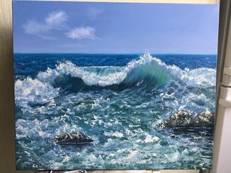 Море играется, 50х70
