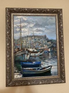 "Картина ""Лодки Греция» Фиголь 2007 70*50 см."