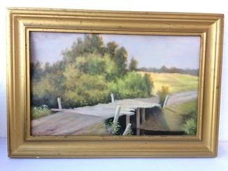 Картина картон, масло, Слюсаренко, 48х33см