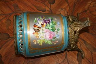 Старинная ваза Франция 19в ручная роспись