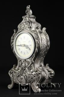 Настольные часы в оловянном корпусе Mercedes Electronic. Германия (0507)