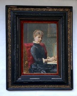 Портрет Дамы в Чёрном.  М . Мейтон  1897 год Россия