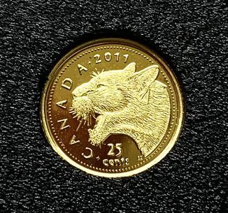 25 центов 2011 года. Пума. Канада
