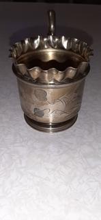 Серебренный подстаканник,84пр