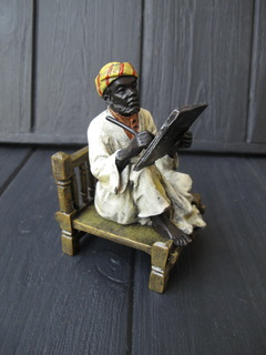 Бронзовая статуэтка . Восточная тема 4 . Клеймо