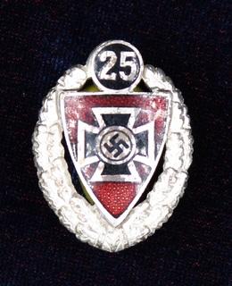 Германия. Национал-социалистический рейхскригербунд. NSRKB. 25 лет членства.