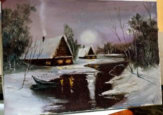 Зимний закат .35х25 Шаркади Н